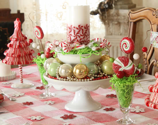 Table decoration for your home at Christmas