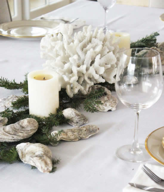Beautiful table decoration for Christmas