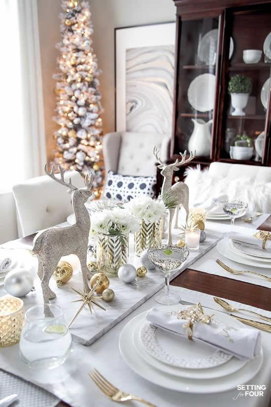Charming Christmas table decoration