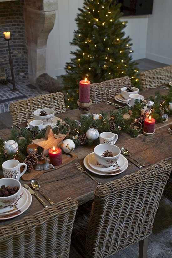 Beautiful decoration for Christmas table