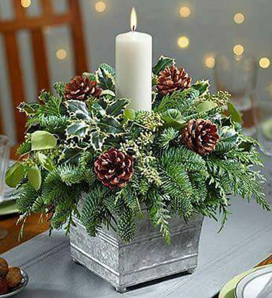 Christmas candle ornament