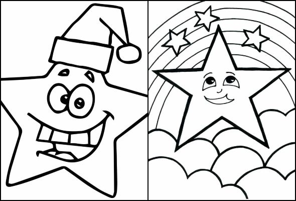 Christmas Star drawing to paint