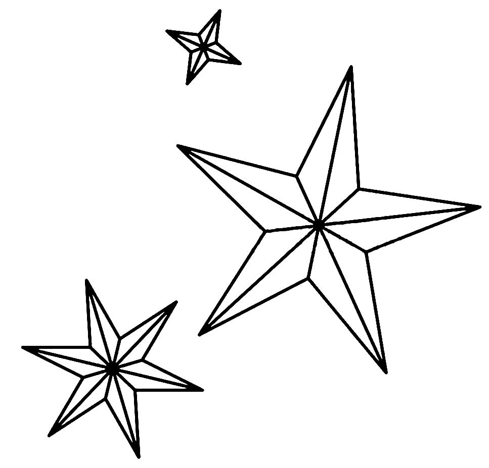 Christmas stars to paint
