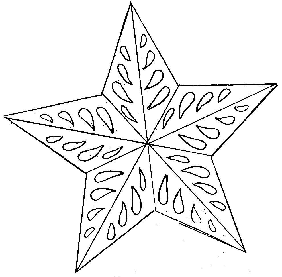 Christmas star to paint