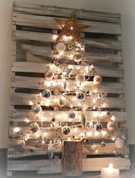 Christmas trees with pallets