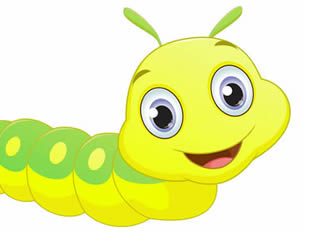 Caterpillar drawings for printing and coloring