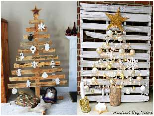 How to make a Christmas tree with pallets