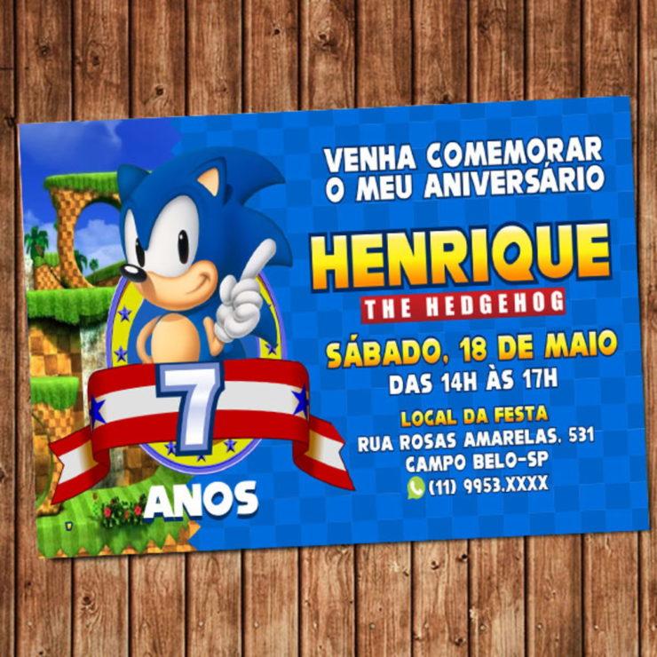 Sonic Party Invitation Ideas