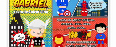 Super Heroes Party Invitation Ideas