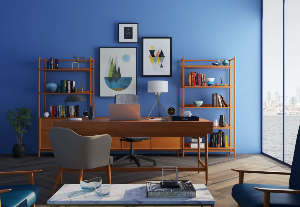 blue color decoration