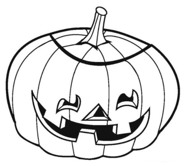 Pumpkin drawing for coloring
