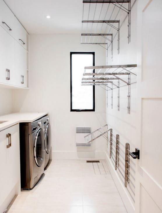 minimalist laundry room