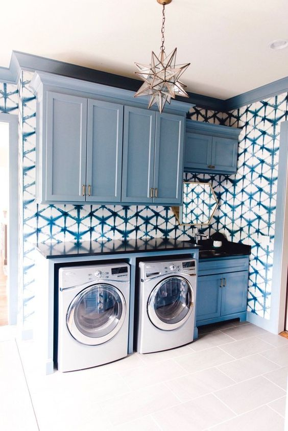 decorated laundry rooms