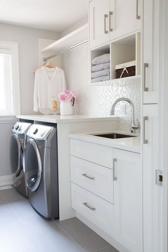 small laundry room with utility room