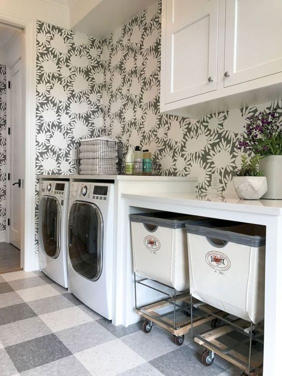 laundries with baskets