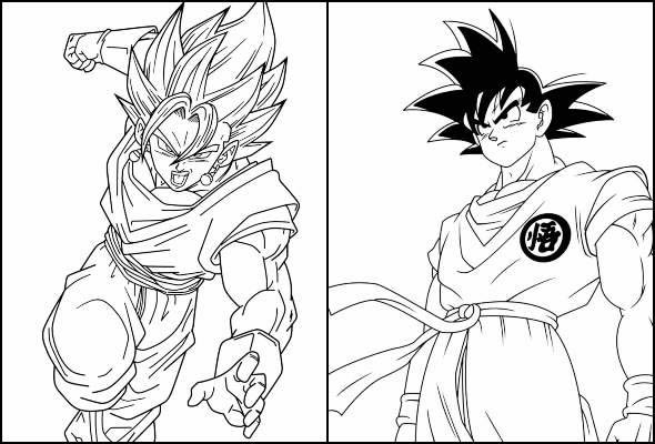 Gorgeous Goku Coloring Pages