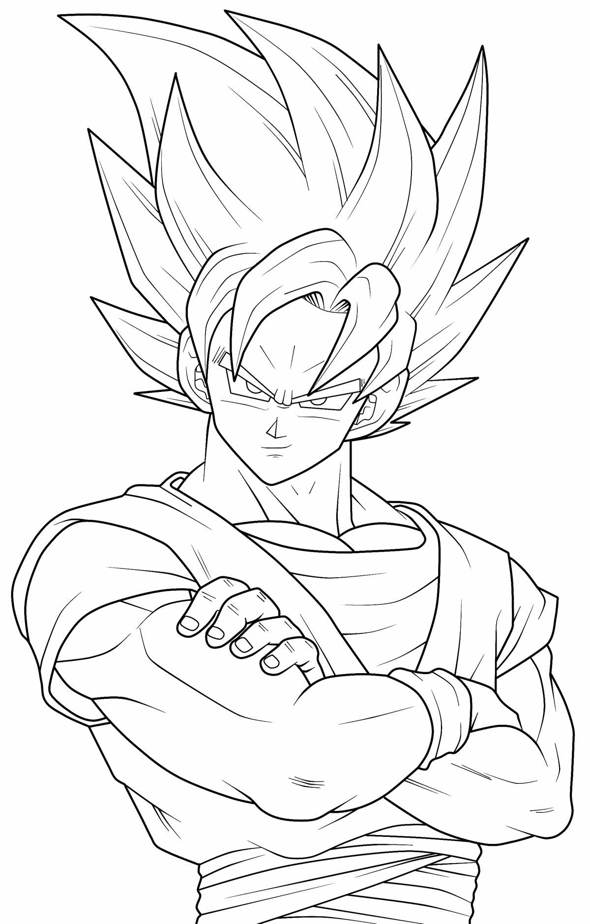 Goku coloring image