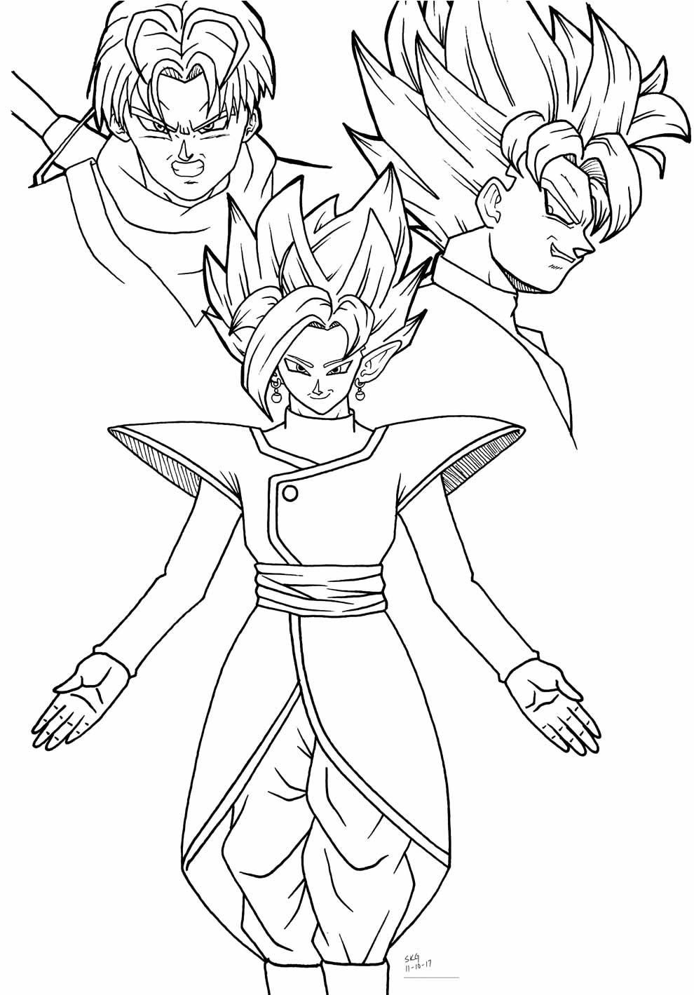 Goku drawing to color