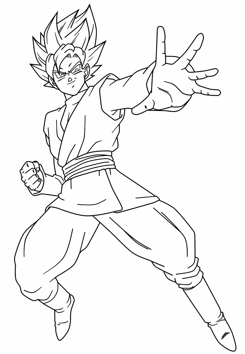 Goku image to paint