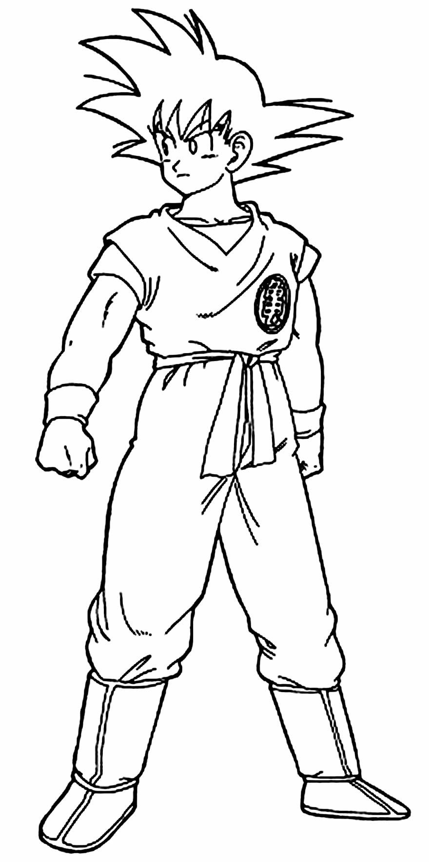 Paintable image of Goku