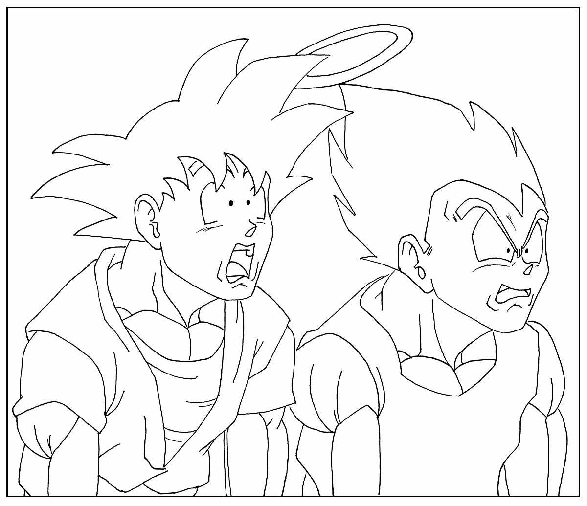 Goku drawing for coloring