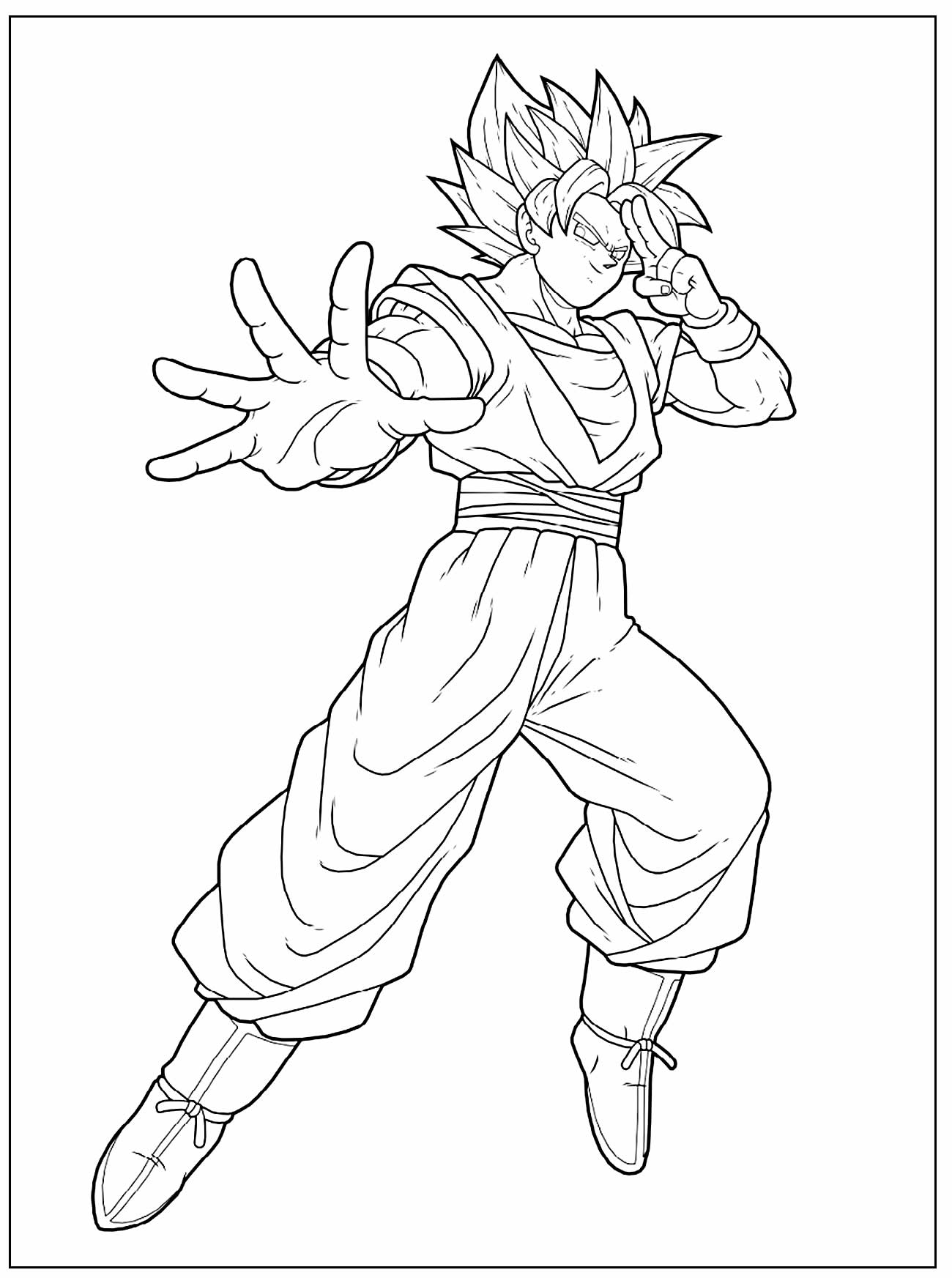 Drawing to paint by Goku
