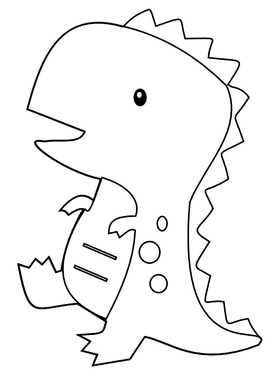 Dinosaur picture to paint
