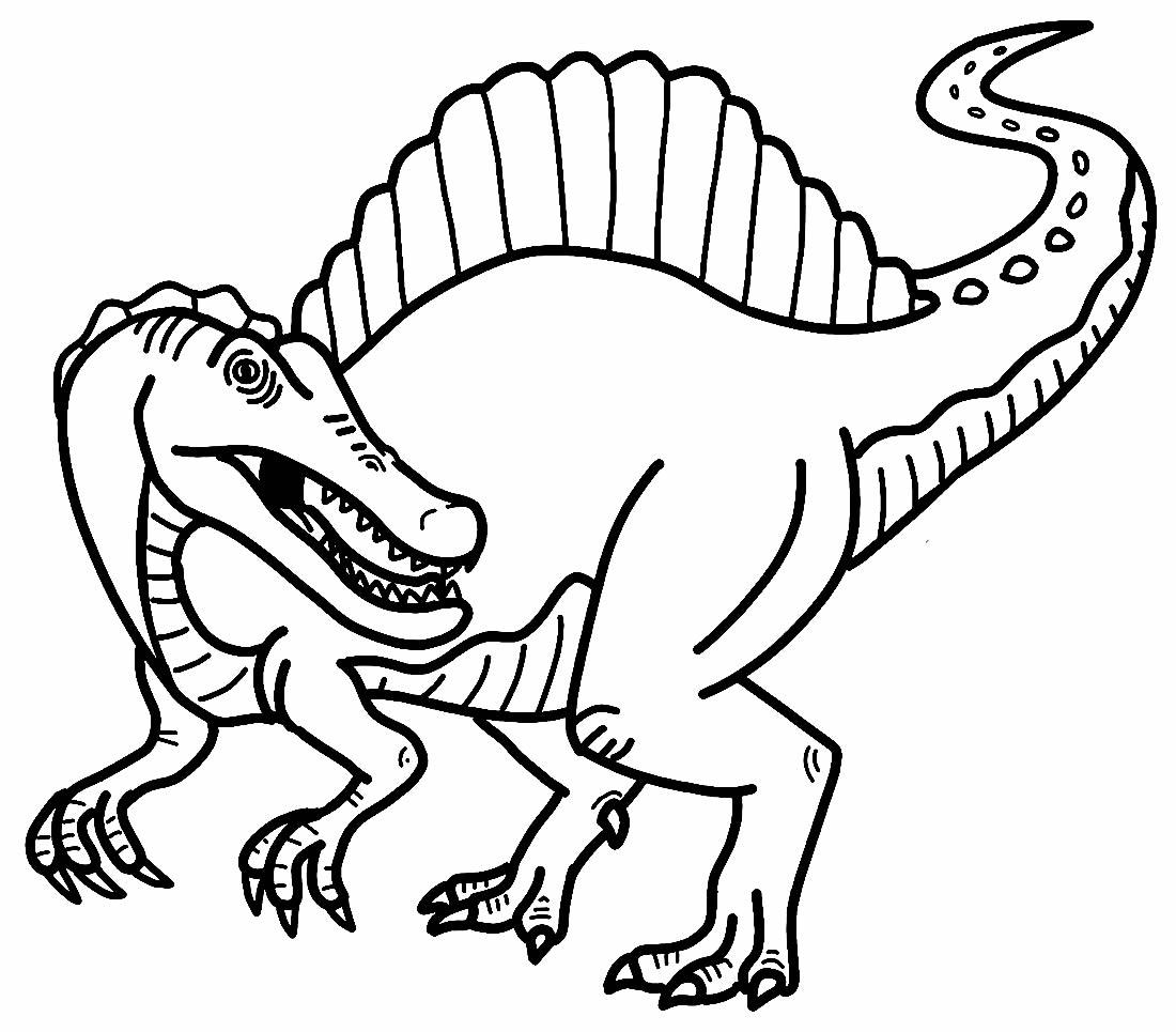 Dinosaur coloring page
