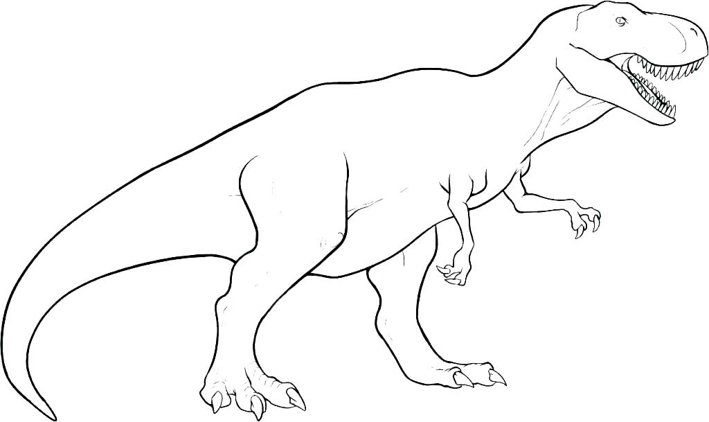 Dinosaur drawing for coloring