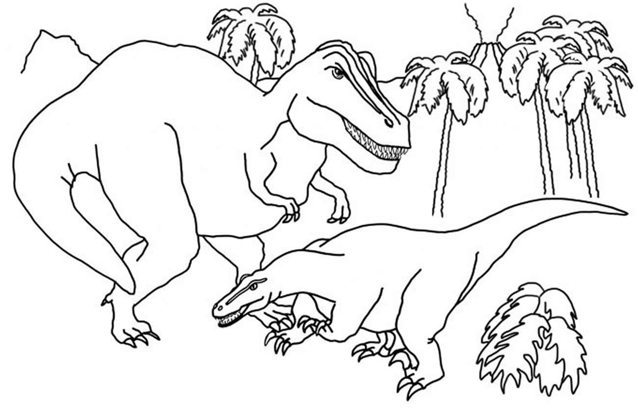 Dinosaur drawing to paint