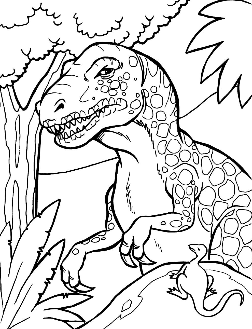 Dinosaur template for coloring