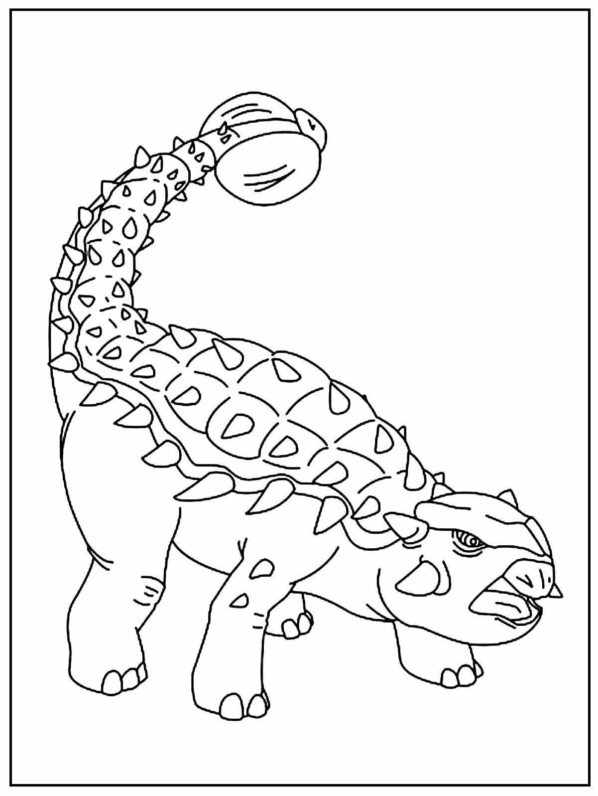 Dinosaur coloring image