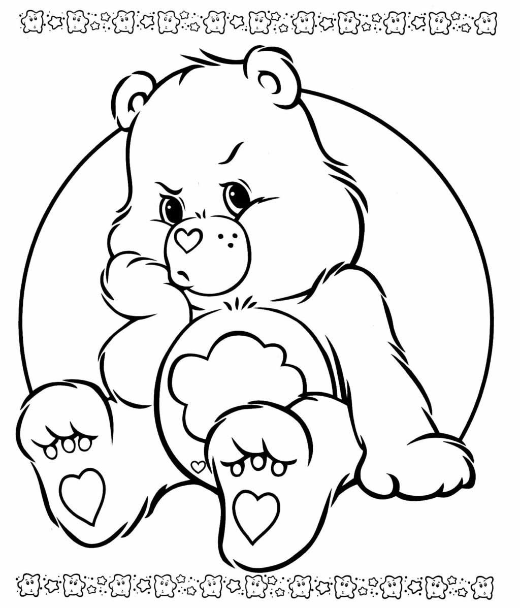 Care Bears drawing for printing and coloring