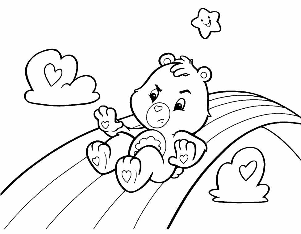 Care Bears Template for printing and coloring