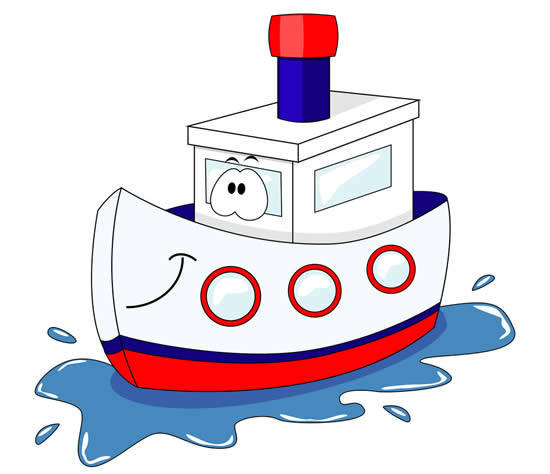 Colorful Boat Template
