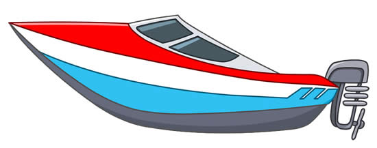 Speedboat colorful mold