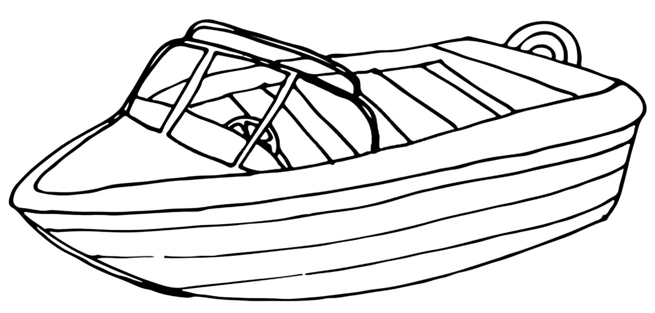Drawing of boats to color