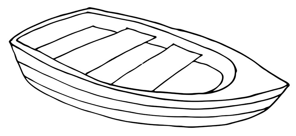Boat coloring page