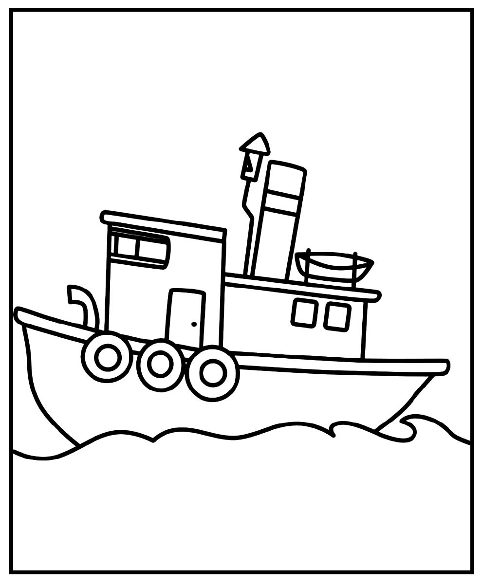 Ship drawing to color
