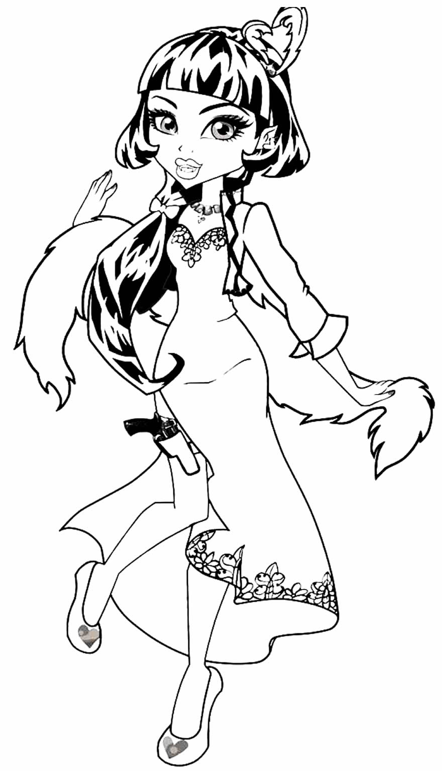 Monster High image to paint and color
