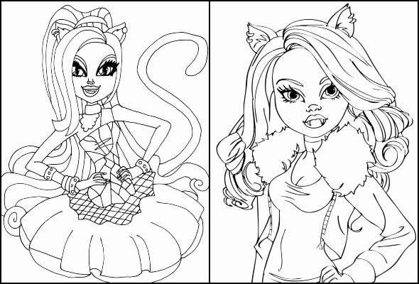 Monster High drawings to paint and color