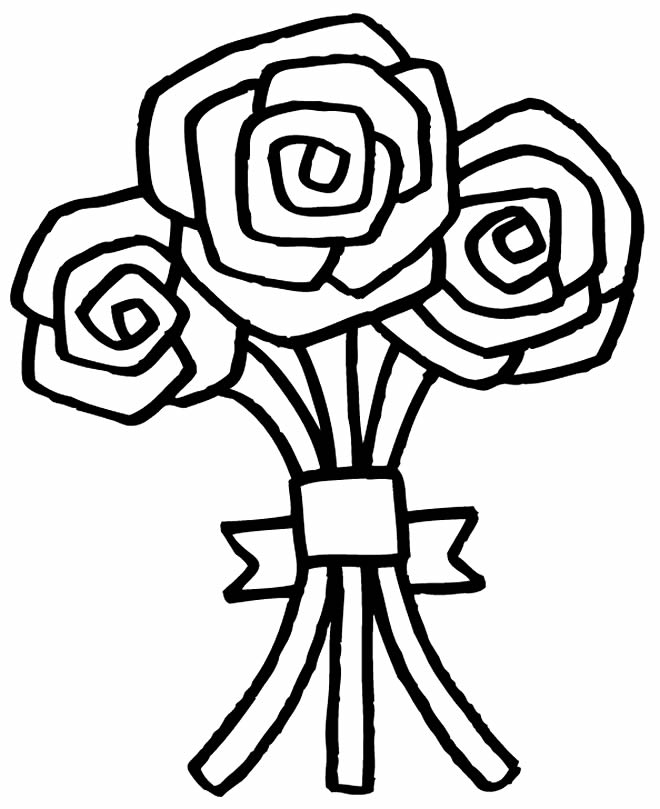 Beautiful drawing of flowers for coloring
