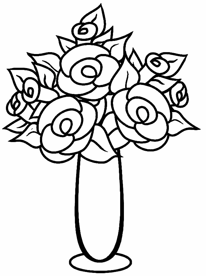 Beautiful drawing of flowers to paint