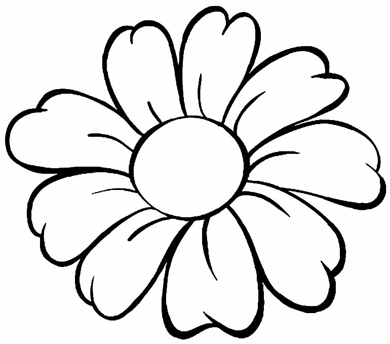 Beautiful flower drawing to paint