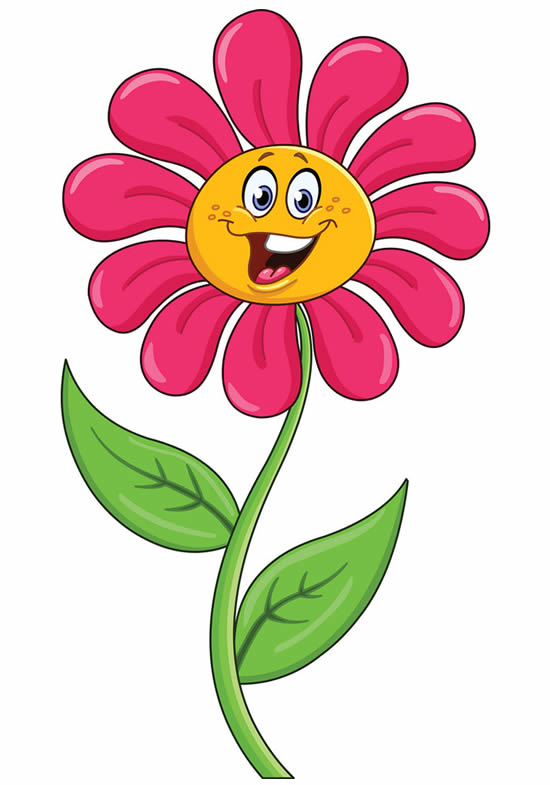 Colorful flower template