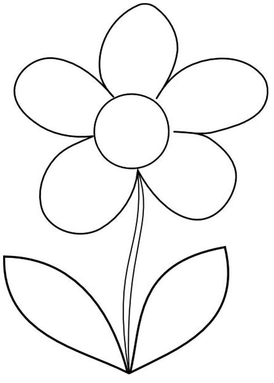 Flower drawings for coloring