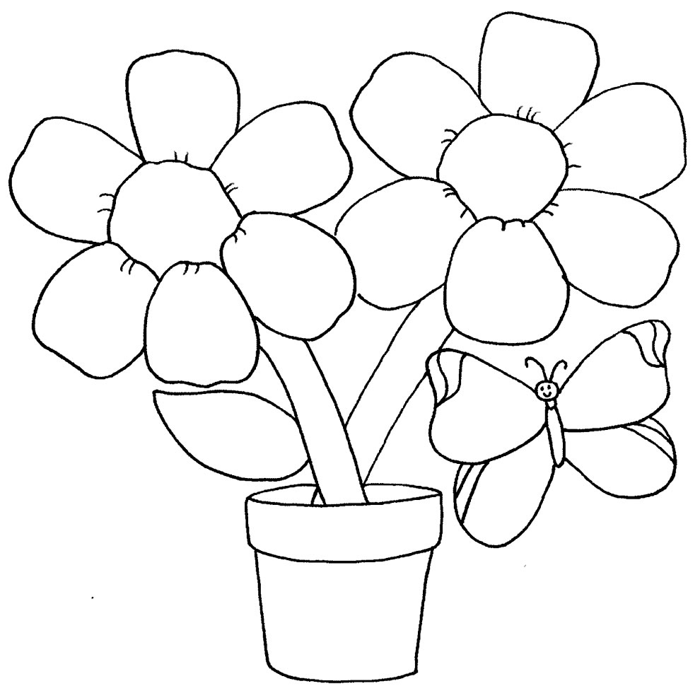 Flower drawings to paint