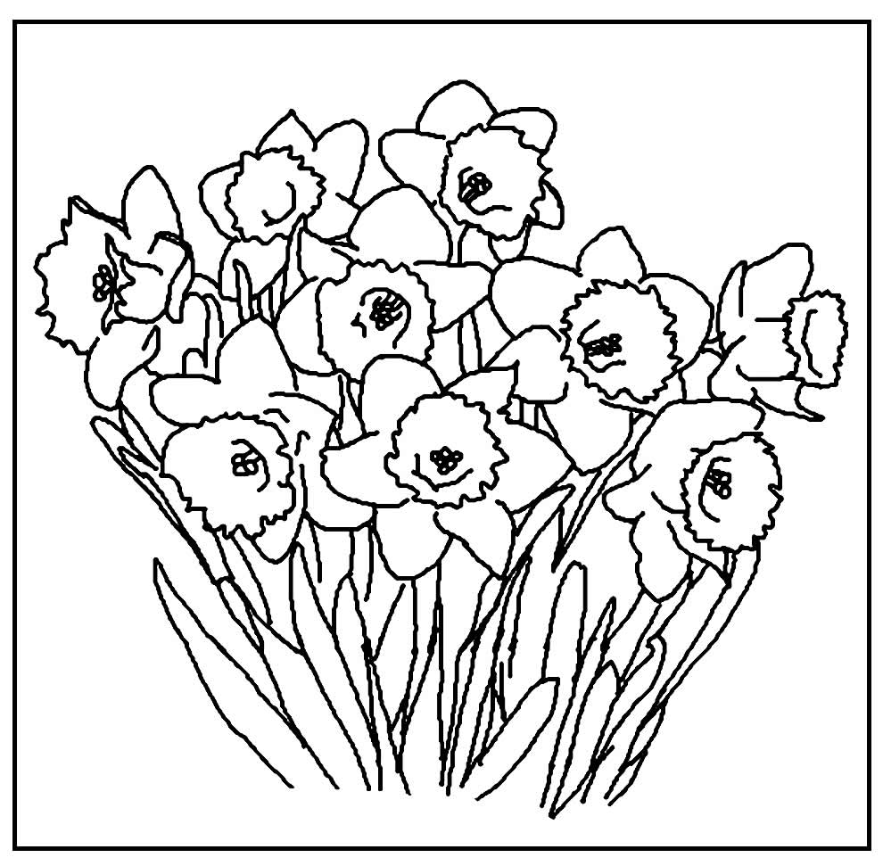 Flower templates for coloring