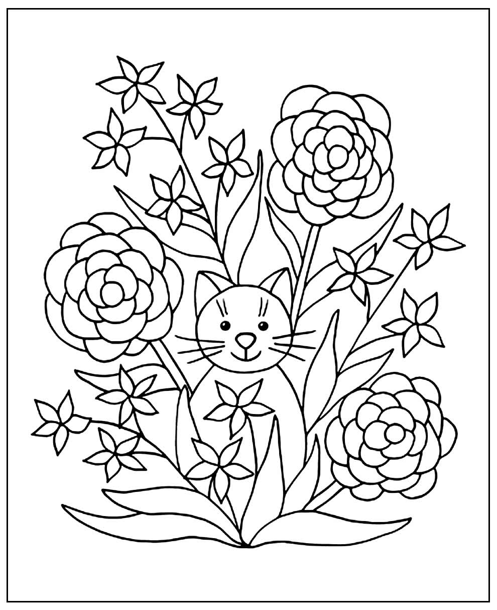 Coloring Images of Flowers